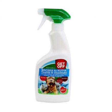 Getoff Tisztító és Távoltartó Spray Kutyáknak és Cicáknak 500Ml
