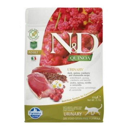 N&D Cicatáp  Quinoa Urinary Kacsa  300G