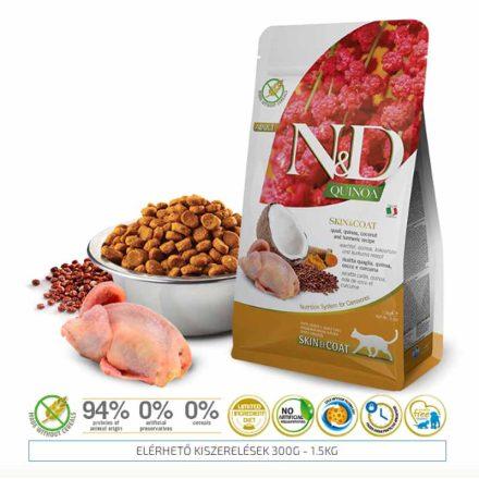 N&D Cicatáp  Quinoa Skin&Coat Fürj  300G
