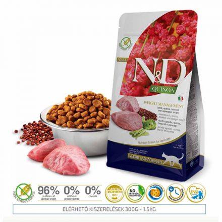N&D Cicatáp  Quinoa Weight Management Bárány  300G