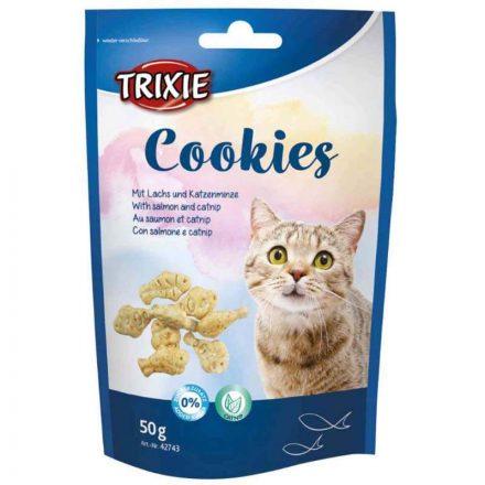 Trixie Jutalomfalat Cookies Lazac és Macskamenta Cicáknak  50G