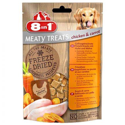 8In1 Jutalomfalat Meaty Treats Chicken & Carrot
