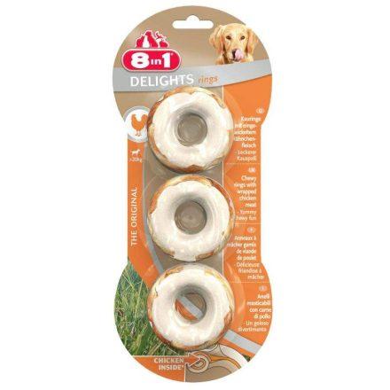 8In1 Jutalomfalat Delight Chicken Rings 3Db