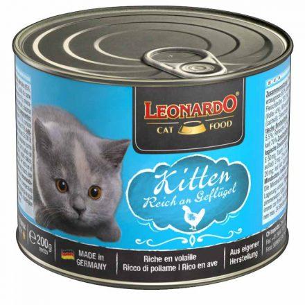 Leonardo Cica Konzerv Kitten Baromfihúsban Gazdag  200G