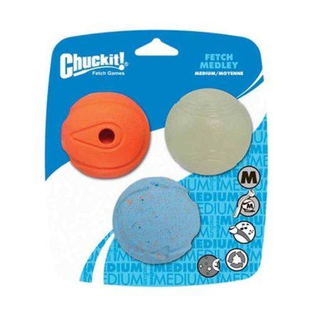 Chuckit Kutyajáték Fetch Medley Labda Szett (M)  3 Db/Csomag