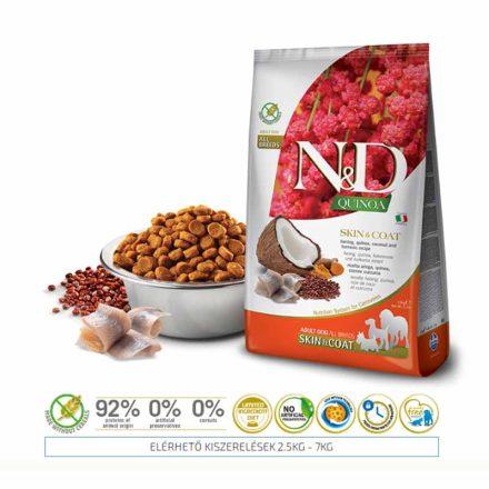 N&D Kutyatáp Quinoa Adult Skin&Coat Hering  800G