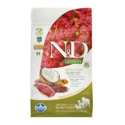 N&D Kutyatáp Quinoa Adult Skin&Coat Kacsa  800G