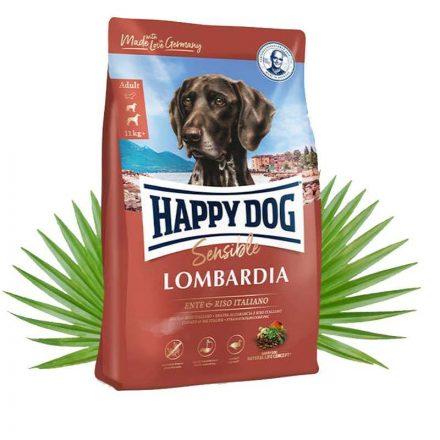 Happy Dog Kutyatáp Sensible Lombardia Kacsa+Olasz Rizs  4Kg