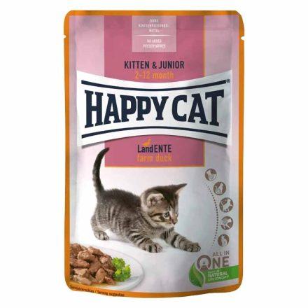 Happy Cat Alutasakos Cicakonzerv Meat In Souce Adult Csirke+Kacsa (Gazdaságos 24X)  24X85G