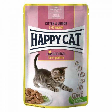 Happy Cat Alutasakos Cicakonzerv Meat In Souce Adult Csirke+Lazac (Gazdaságos 24X)  24X85G